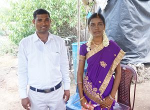 Pr Joseph Usala meets with Jyothi to pray with her and her family.