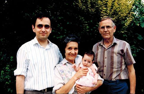 Me in younger days, with my mother, father, and daughter Rebecca.