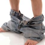 Pants-around-ankles