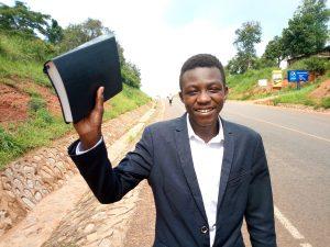 Solomon holding a Bible