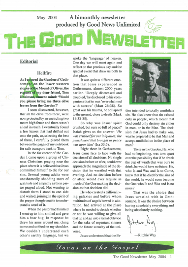 newsletter may 2004